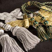 ornements liturgiques, cingours dorés