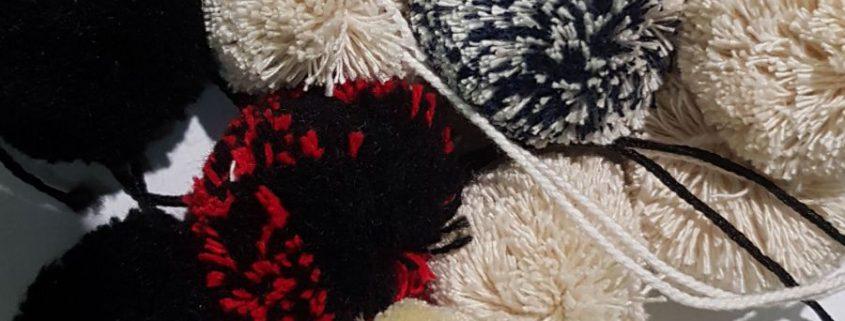 pompones de lana, accesorios para calzado