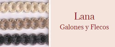 galones de lana, flecos de lana, pasamaneria de lana, complementos confección de moda,